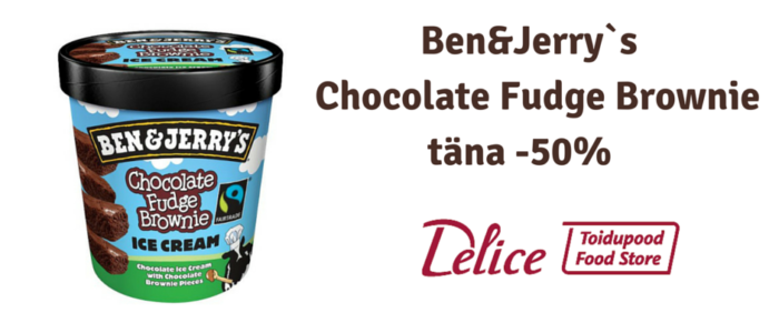 Ben&Jerry`s Chocolate Fudge Brownie täna -50%
