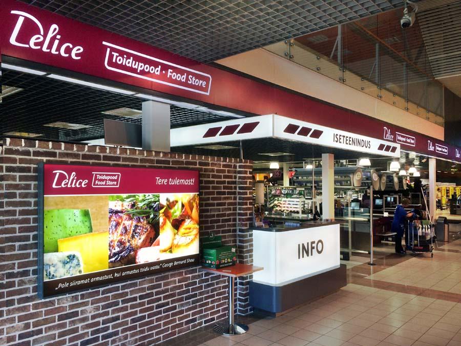 Viimsi Delice Toidupoe sissekäik Viimsi Kaubanduskeskuses
