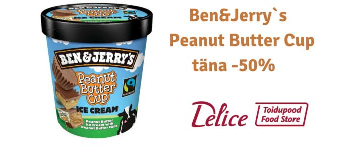 Ben&Jerry`s Peanut Butter Cup täna -50% soodsam!