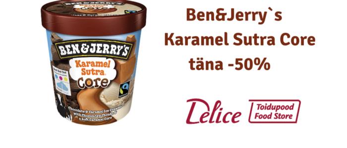 Ben&Jerry`s Karamel Sutra Core täna -50% soodsam!