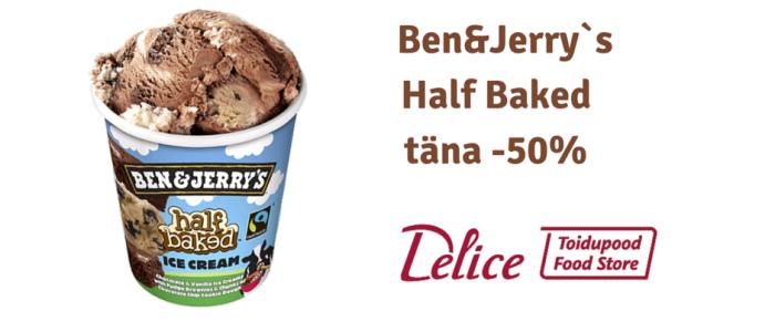Ben&Jerry`s Half Baked -50% soodsam!