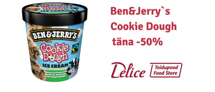 Ben&Jerry`s Cookie Dough täna -50% soodsam!