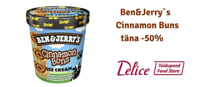 Ben&Jerry`s Cinnamon Buns täna -50% soodsam!