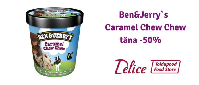 Ben&Jerry`s Caramel Chew Chew täna -50& soodsam!