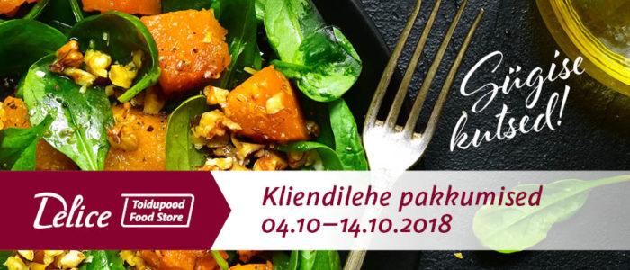 Delice toidupoe kliendilehe pakkumised 04.10-14.10