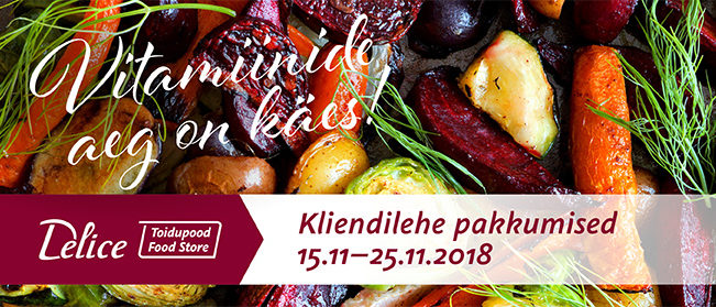 Delice toidupoe kliendilehe pakkumised 15.11-25.11