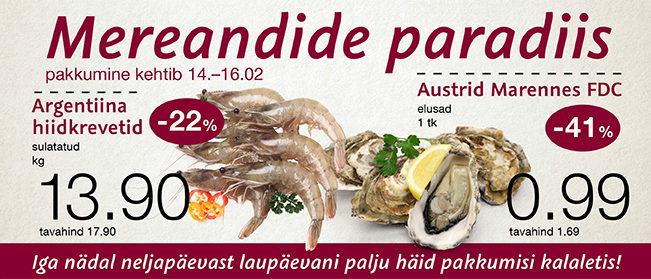 Delice toidupoes on mereandide paradiis 14.02-16.02