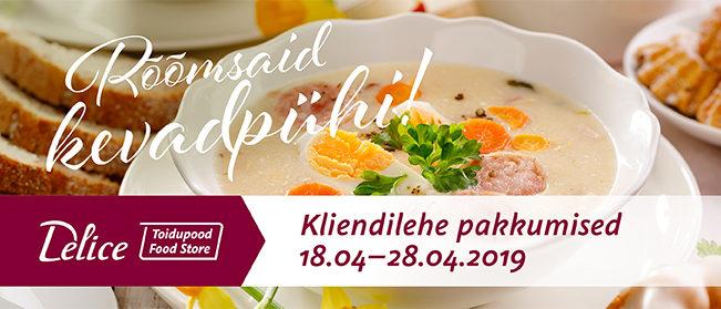 Delice toidupoe kliendilehe pakkumised 18.04-28.04
