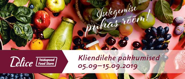 Delice toidupoe kliendilehe pakkumised 05.09-15.09