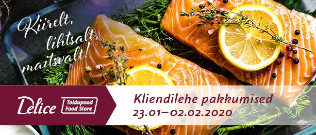 Delice toidupoe kliendilehe pakkumised 23.01-02.02
